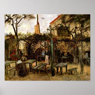 Terraza de Van Gogh del café, Montmartre (F238) Posters