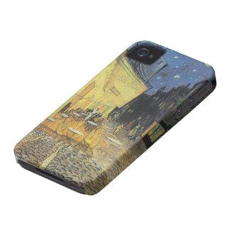 Terraza de Vincent Van Gogh- Cafe en el caso de la iPhone 4 Protectores