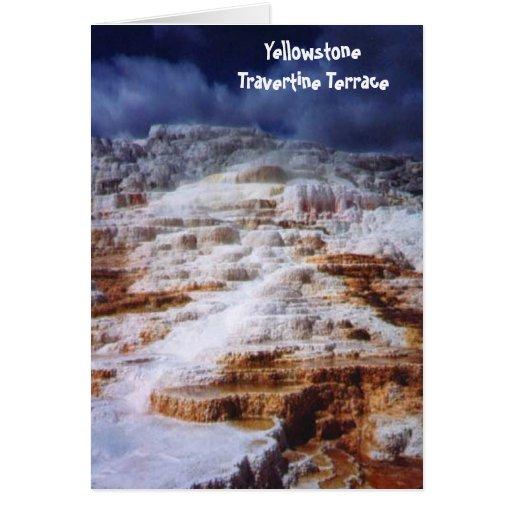 Terraza de Yellowstone Tarjeta Pequeña