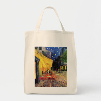 Terraza del café de la noche de Van Gogh en el Bolsa Tela Para La Compra