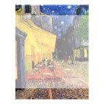Terraza del café de la noche de Van Gogh en el Tarjetas Publicitarias