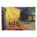 Terraza del café de la noche de Van Gogh en el Mantel Individual