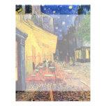 Terraza del café de la noche de Van Gogh en el Membrete A Diseño