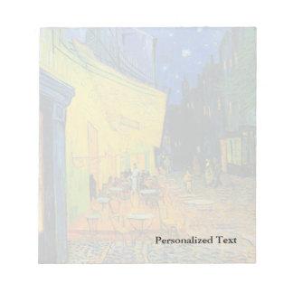 Terraza del café de Van Gogh el | en la noche el | Bloc De Notas