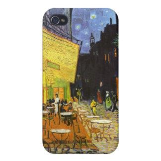 Terraza del café de Van Gogh en la noche iPhone 4 Funda