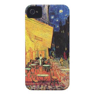 Terraza del café de Van Gogh en la noche iPhone 4 Case-Mate Funda