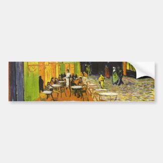 Terraza del café de Van Gogh en la noche Pegatina Para Auto