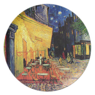 Terraza del café de Van Gogh en la noche Platos De Comidas
