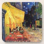 Terraza del café de Van Gogh en la noche Posavasos De Bebidas