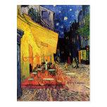 Terraza del café de Van Gogh en la noche Postal