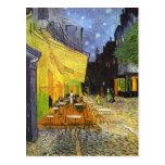 Terraza del café de Van Gogh en la noche Postales