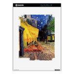 Terraza del café de Van Gogh en la noche Calcomanías Para iPad 2