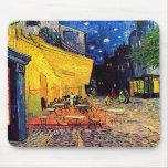 Terraza del café de Van Gogh en la noche Alfombrilla De Raton