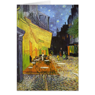 Terraza del café de Van Gogh en la noche Tarjetón