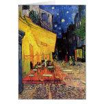 Terraza del café de Van Gogh en la noche Tarjetas