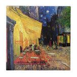 Terraza del café de Van Gogh en la noche Teja