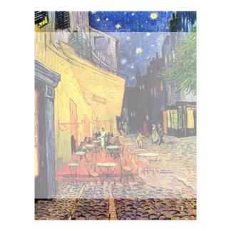 Terraza del café de Van Gogh en Place du Forum, Membrete A Diseño