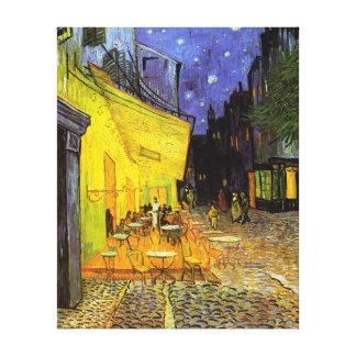 Terraza del café de Vincent van Gogh en el arte de Lona Estirada Galerías