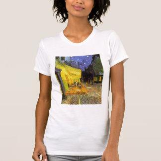 Terraza del café de Vincent van Gogh en el arte de Camiseta