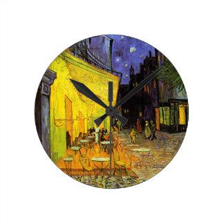 Terraza del café de Vincent van Gogh en el arte de Reloj