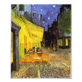 Terraza del café de Vincent van Gogh en el arte Fotografías