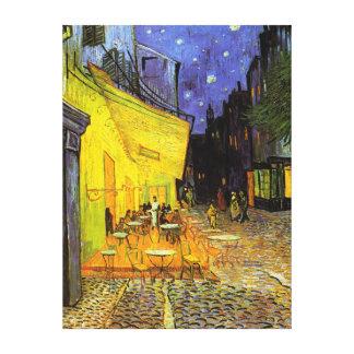 Terraza del café de Vincent van Gogh en el arte Lona Envuelta Para Galerías
