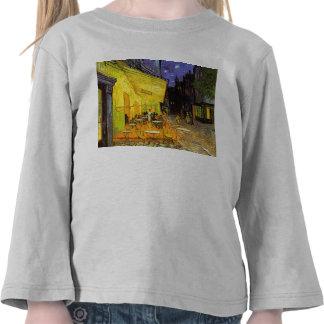 Terraza del café de Vincent van Gogh en el arte Camiseta