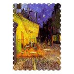 """Terraza del café de Vincent van Gogh en la bella Invitación 5"""" X 7"""""""