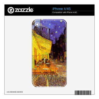 Terraza del café de Vincent van Gogh en la bella iPhone 4S Skins