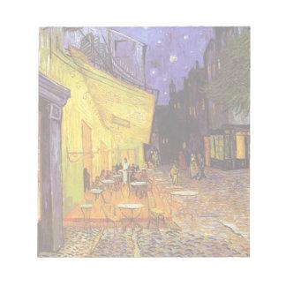 Terraza del café de Vincent van Gogh en la pintura Blocs De Papel
