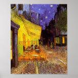 Terraza del café de Vincent van Gogh en la pintura Póster