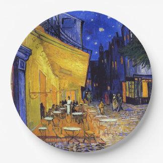 Terraza del café de Vincent van Gogh Plato De Papel De 9 Pulgadas