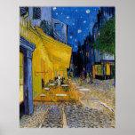 Terraza del café de Vincent van Gogh Poster