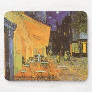 Terraza del café en la noche de Vincent van Gogh Alfombrillas De Ratón
