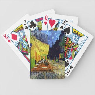 Terraza del café en la noche de Vincent van Gogh Baraja Cartas De Poker