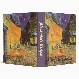 """Terraza del café en la noche de Vincent van Gogh Carpeta 1"""""""