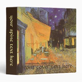 """Terraza del café en la noche de Vincent van Gogh Carpeta 1 1/2"""""""