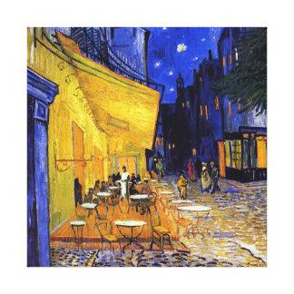 Terraza del café en la noche de Vincent van Gogh Impresión En Lienzo