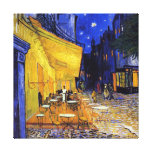 Terraza del café en la noche de Vincent van Gogh Impresión En Lienzo Estirada