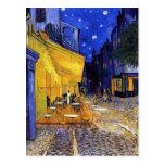 Terraza del café en la noche de Vincent van Gogh Postal