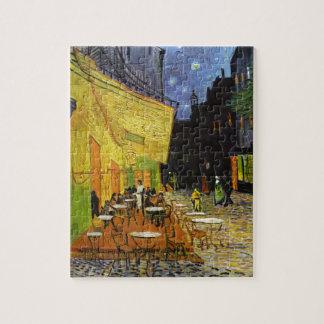 Terraza del café en la noche Van Gogh Puzzle Con Fotos