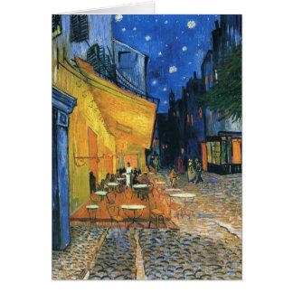 Terraza del café en la tarjeta de Van Gogh de la n