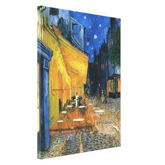 Terraza del café Place du Forum Arles - Van Gogh Impresiones En Lienzo Estiradas