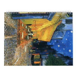 Terraza del café, Place du Forum, Arles - Van Gogh Calendarios
