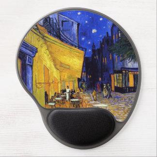 Terraza del café por la bella arte de Van Gogh Alfombrilla Para Ratón De Gel