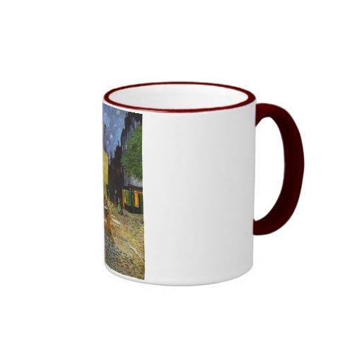 terraza del café taza de dos colores