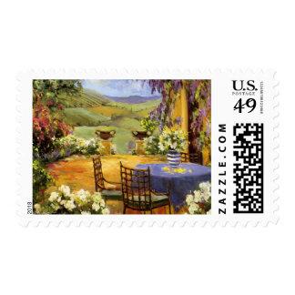 Terraza del campo sellos