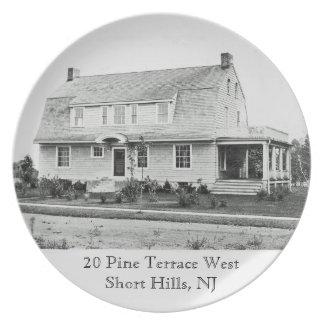 Terraza del oeste, placa SH de 20 pinos de la mela Platos De Comidas