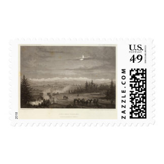 Terraza del puerco espín timbre postal