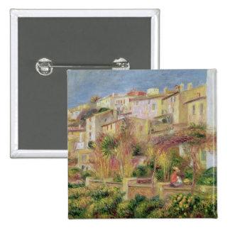 Terraza en Cagnes, 1905 Pin Cuadrado